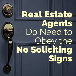 no soliciting signs realtors
