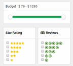 Many travel sites allow users to filter on both ratings and reviews