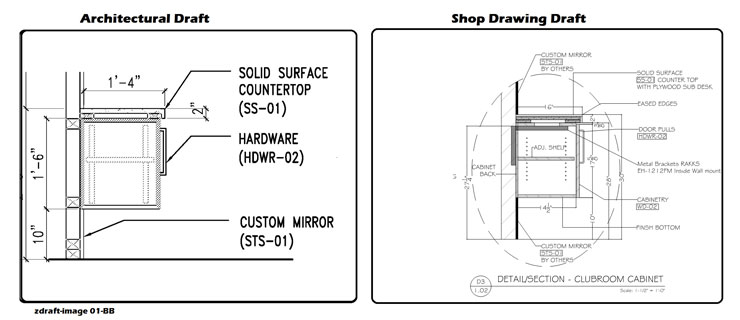 Architectural Draft Drawings Versus Shop Drawings