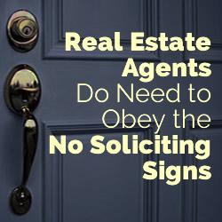 no soliciting signs realtors
